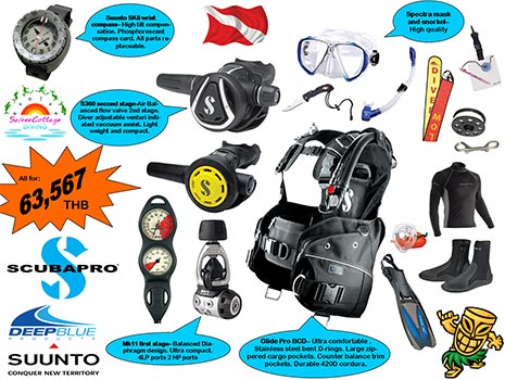 Best Deal Dive Gear Package for Divemaster and Diving Instructor Gold