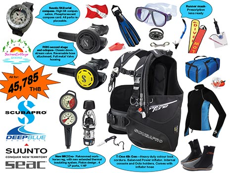 Best Deal Dive Gear Package for Divemaster and Diving Instructor Silver