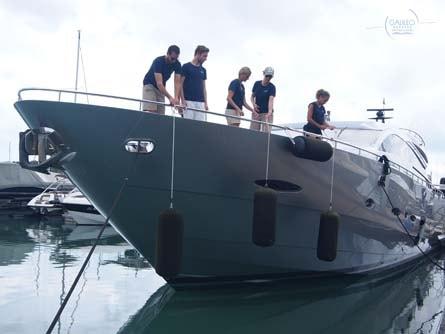 Docking Lessons Training Super Yacht Galileo