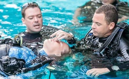 PADI IDC Dive Instructor Superyacht Rescue Training