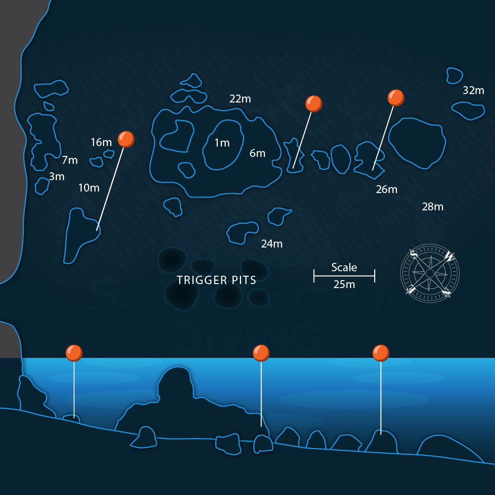 Green Rock Dive Site Map