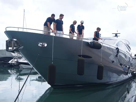Docking Lessons Training Super Yacht Galileo