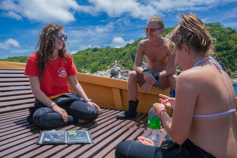 Leading Work Shops Assisting Scuba Diving Courses PADI Divemaster Course Koh Tao